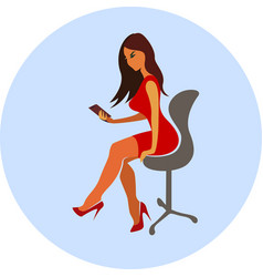 businesswoman in the office vector image