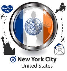 card with new york city us vector image