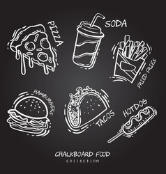 chalk food board design vector image