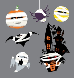 Characters for Halloween vector