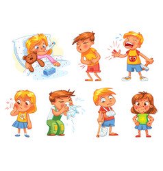 children get sick vector image