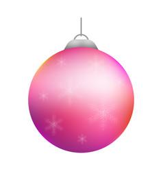 christmas decoration ball vector image