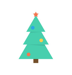 christmas tree icon flat style vector image