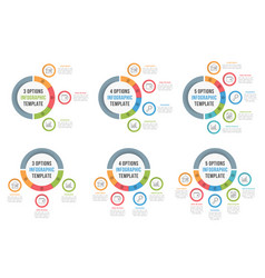 Circle infographic templates vector