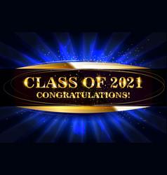 Class 2021 congratulations graduates vector