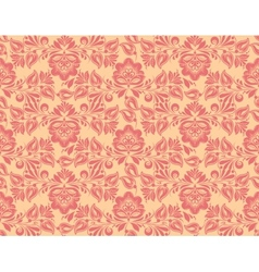 Classic wallpaper seamless vintage flower pattern vector