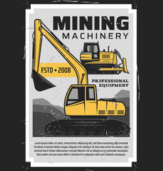 Coal mining production industry mine machinery vector