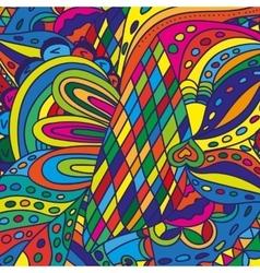 Color doodle background pattern vector image