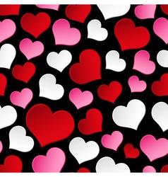 Color valentine hearths symbol seamless dark vector