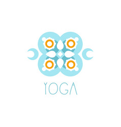 colorful creative floral ornament yoga logo vector image