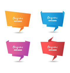 colorful paper banner vector image