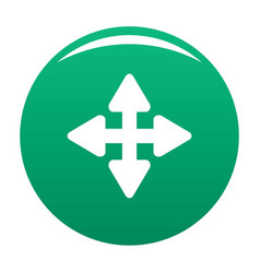 Cursor displacement element icon green vector