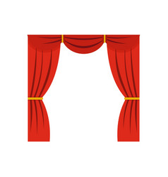 curtain on stage icon flat style vector image