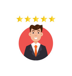 customer review positive feedback concept vector image