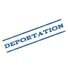 Deportation Watermark Stamp vector