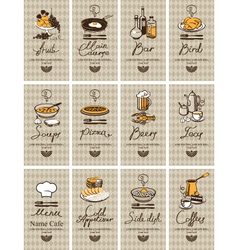 different dishes vector image