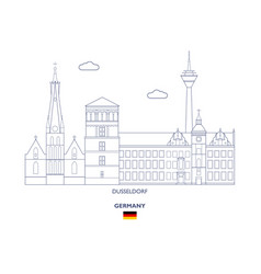 dusseldorf city skyline vector image