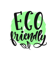 Eco friendly sign round vegan green logo vector