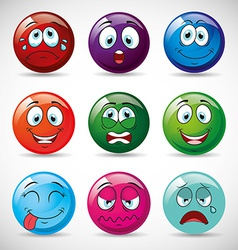 emoticons icons vector image