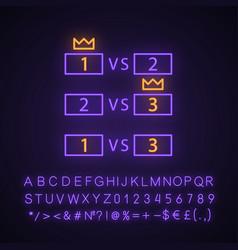 Esports tournament neon light icon vector