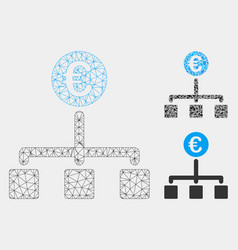 Euro cash flow mesh 2d model and triangle vector