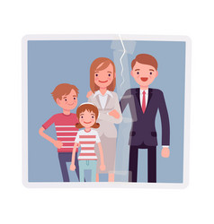 family reunion portrait vector image
