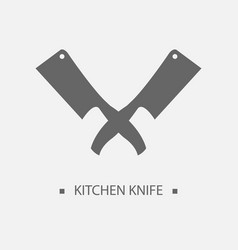 flat kitchen knives for shop and design butcher vector image vector image