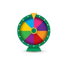 fortune wheel gambling logo concept vector image