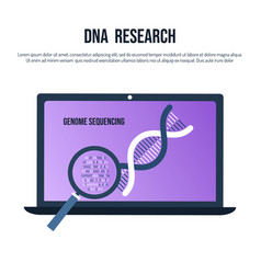 Genetic engineering and genome sequencing concept vector