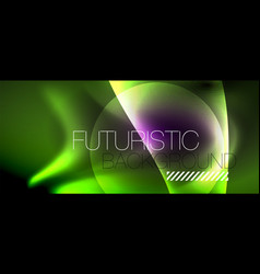 glossy glowing neon light wave background vector image