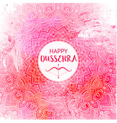 happy dussehra background decorated with vector image