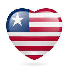 Heart icon of liberia vector