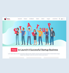 how to launch successful business website info vector image