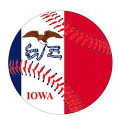 Iowa flag baseball vector