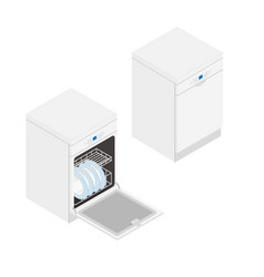 isometric dishwasher vector image