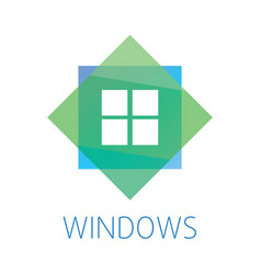logo on the theme of windows doors vector image