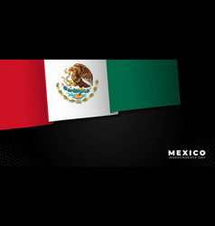 Mexico independence day with waving flag vector