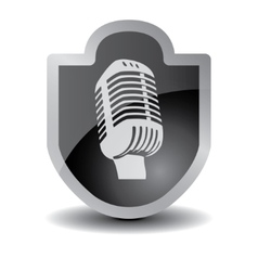 Microphone Icon sign vector image