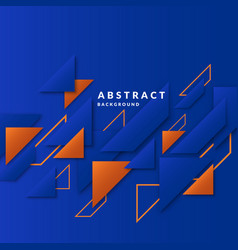 modern collage of simple geometric shapes vector image