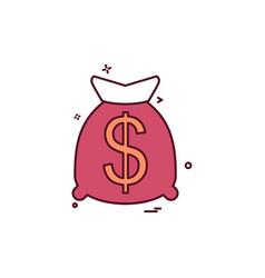 money bag icon design vector image
