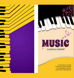music abstract background for banner or roll up vector image