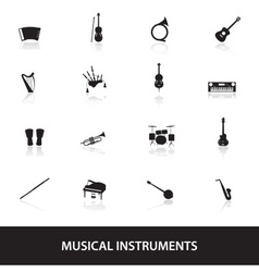musical instruments eps10 vector image