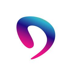 new popular d letter initial d logo design vector image