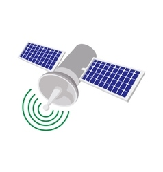 Satellite communications cartoon icon vector