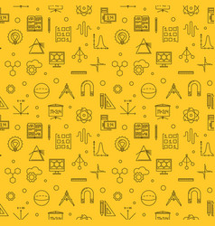 Science technology engineering and math pattern vector