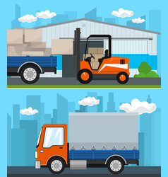 set of transportation and storage vector image