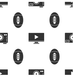 Set photo camera online play video and american vector