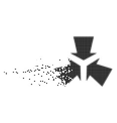 Shrink arrows fragmented pixel icon vector