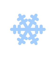 snowflake icon blue silhouette snow flake sign vector image