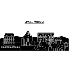 spain murcia architecture city skyline vector image
